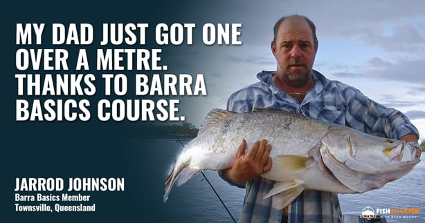 Fishing for big barramundi in Mackay